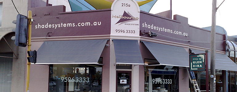 Drop Arm Window Awnings | Drop Down Awnings | Retractable ...