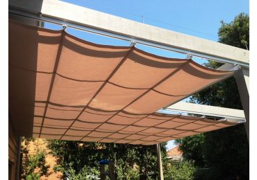 Pleated Patio Awning on Tracks