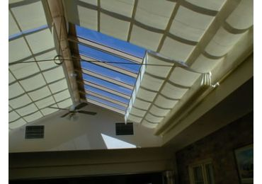 Pleated Shade under Glass Roof